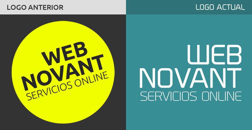 Comparación de los logos de Webnovant