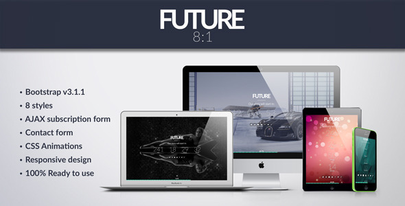 Future - 8 in 1 Coming Soon Template