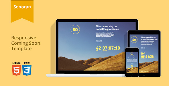 Sonoran - Responsive Coming Soon Template