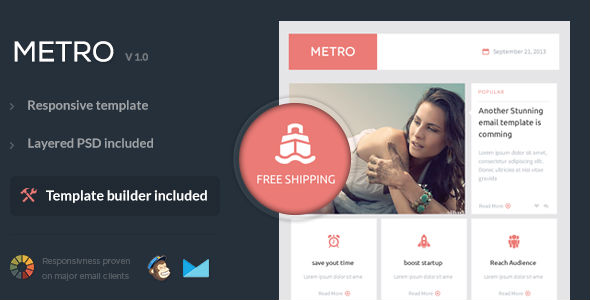 MetroMail - Responsive Email Template