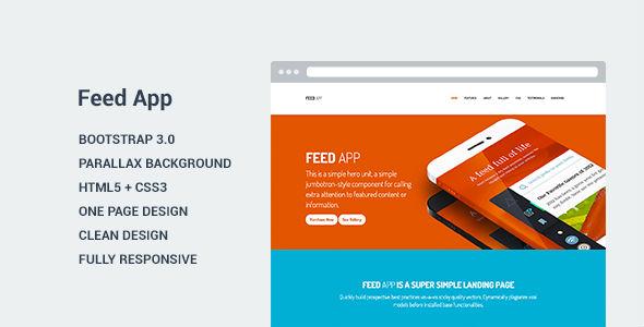 FeedApp - Landing Page Template