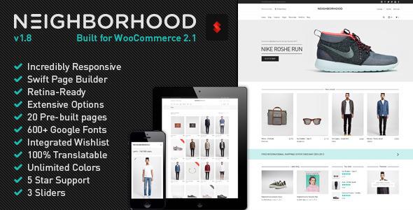 Neighborhood - Responsive Multi-Purpose Shop Theme