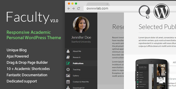 Faculty - Responsive Academic WordPress Theme
