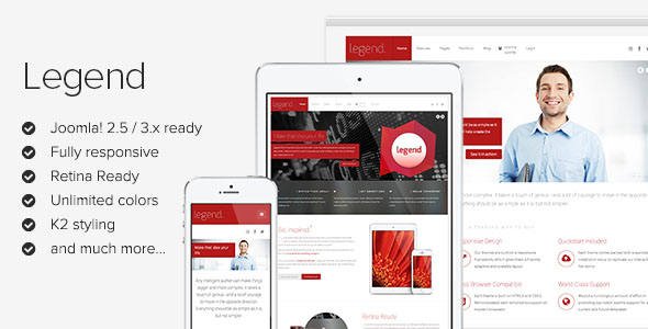 Legend - Clean Business Joomla Template