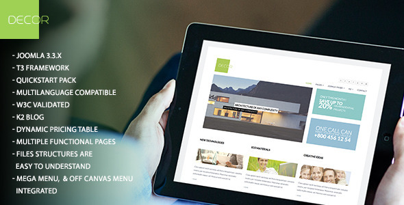 Decor Multi Purpose Joomla Responsive Template