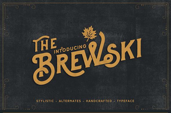 Brewery Vintage Typeface