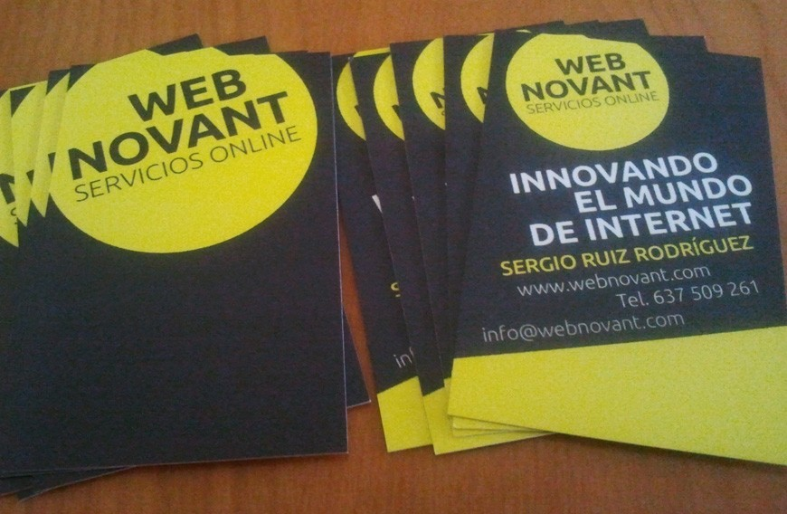 Webnovant ya tiene tarjetas de visita